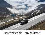 highland road to daocheng  china | Shutterstock . vector #787503964