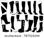 women winter boots | Shutterstock .eps vector #787524244