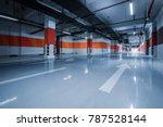 empty underground parking garage | Shutterstock . vector #787528144
