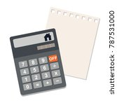 concept of the calculation of... | Shutterstock .eps vector #787531000