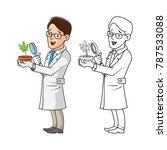 high quality plant scientist... | Shutterstock .eps vector #787533088