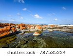 beautiful view of rock pools at ... | Shutterstock . vector #787535224