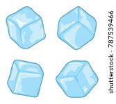 vector ice cubes isolated on... | Shutterstock .eps vector #787539466