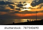 sunset over the sea in italy  | Shutterstock . vector #787540690
