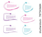 collection of quote box bubble... | Shutterstock .eps vector #787543684