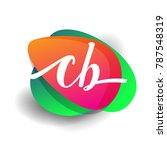 letter cb logo with colorful... | Shutterstock .eps vector #787548319