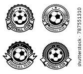 set of soccer  football emblems.... | Shutterstock .eps vector #787551310