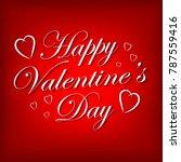 valentines day lettering... | Shutterstock .eps vector #787559416