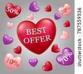 valentine's day big sale best... | Shutterstock . vector #787559536