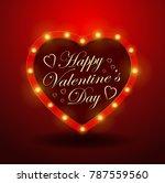 valentine s day background.... | Shutterstock .eps vector #787559560
