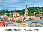 lviv  city view  historical... | Shutterstock . vector #787563490
