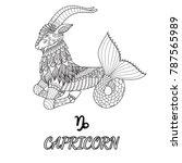 line art design of capricorn...   Shutterstock .eps vector #787565989