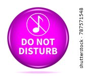 do not disturb icon. internet... | Shutterstock . vector #787571548