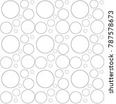 circle bubble seamless pattern... | Shutterstock .eps vector #787578673