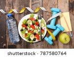 diet food concept   Shutterstock . vector #787580764