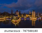 medieval bridge ponts couverts... | Shutterstock . vector #787588180