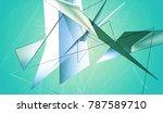 polygonal aquamarine background.... | Shutterstock . vector #787589710