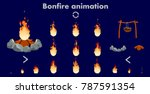 vector bonfire animation...