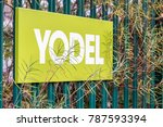 Small photo of Northampton UK December 07, 2017: Yodel delivery Service logo sign in Brackmills Industrial Estate