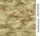 seamless camouflage pattern.... | Shutterstock .eps vector #787593934
