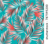 seamless pattern of a tropical... | Shutterstock .eps vector #787595200