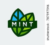mint logo template vector... | Shutterstock .eps vector #787597546