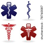 medical symbols set  vector... | Shutterstock .eps vector #78760087