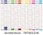 elegant annual planner for year ... | Shutterstock .eps vector #787601218