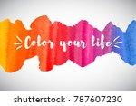 watercolor vector rainbow... | Shutterstock .eps vector #787607230