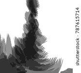black watercolor fancy pattern... | Shutterstock .eps vector #787615714