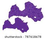 couple set map purple map of... | Shutterstock .eps vector #787618678