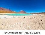 "green lagoon or ""laguna verde""  ...   Shutterstock . vector #787621396"