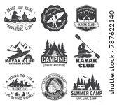 set of canoe and kayak club... | Shutterstock .eps vector #787622140