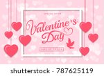valentines day sale greeting... | Shutterstock .eps vector #787625119