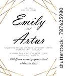 wedding invite  invitation save ... | Shutterstock .eps vector #787625980