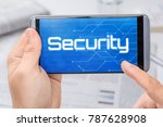 smartphone with the text... | Shutterstock . vector #787628908