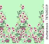 seamless border in small pretty ... | Shutterstock . vector #787630219