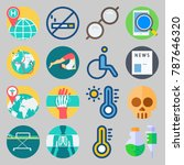 icon set about medical. with no ... | Shutterstock .eps vector #787646320