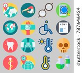 icon set about medical. with... | Shutterstock .eps vector #787646434