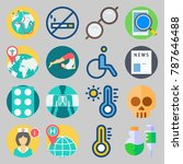 icon set about medical. with... | Shutterstock .eps vector #787646488