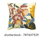 decorative floral throw pillow...   Shutterstock . vector #787647529