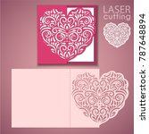 laser cut wedding invitation or ... | Shutterstock .eps vector #787648894