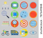 icon set about transportation.... | Shutterstock .eps vector #787649848