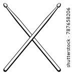 vector illustration drumsticks. ... | Shutterstock .eps vector #787658206