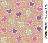 romantic background. vector...   Shutterstock .eps vector #787663576