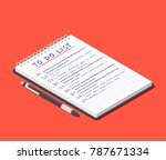 to do list on the notepad and... | Shutterstock .eps vector #787671334