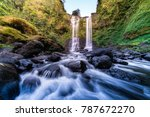 tad yuang waterfall view from... | Shutterstock . vector #787672270
