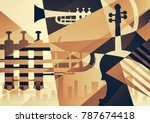 abstract jazz art  music... | Shutterstock . vector #787674418