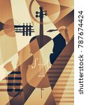 abstract jazz art  music... | Shutterstock . vector #787674424