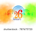 republic day with tricolour... | Shutterstock .eps vector #787675720
